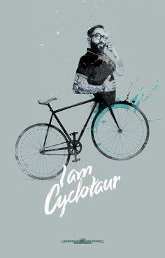 Halb Mensch, halb Fahrrad: Für den Fahrradladen »In Bicycle We Trust« entwickelte David Despau eine besondere #Kampagne.
