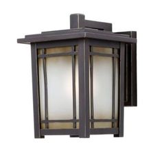 Home Decorators Port Oxford Oil Rubbed Chestnut Outdoor Wall Mount Lantern…