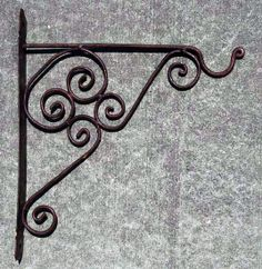"""Wrought Iron Hook (Large) - $20.00   Wrought iron hand made hook to add a Moorish look to your hanging lanterns inside or out.   Measurement: 16"""" inch  https://treasuresofmorocco.com/shop/?slug=product_info.php&products_id=240"""