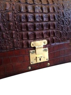 Crocodile Gladstone Bag | Daniels Antiques