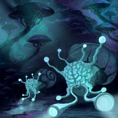 Sea Of Psilocybin - Neurons Cover Art by https://antonkurbatov.deviantart.com on @DeviantArt