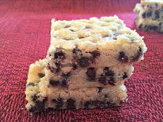 Chocolate Chip Shortbread Bar Cookies  #SnickerdoodleSunday