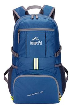 Venture Pal Lightweight Packable Durable Travel Hiking Backpack Daypack (Navy Blue). For product & price info go to:  https://all4hiking.com/products/venture-pal-lightweight-packable-durable-travel-hiking-backpack-daypack-navy-blue/