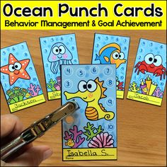 Motivate your students to achieve goals and good behavior with these fun and unique Ocean / Under the Sea theme punch cards. Use these cards for behavior management, skill proficiency, homework completion or goal achievement.