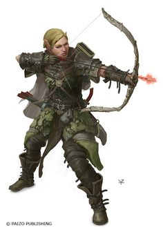 Elven Hunter by Windmaker armor clothes clothing fashion player character npc | Create your own roleplaying game material w/ RPG Bard: www.rpgbard.com | Writing inspiration for Dungeons and Dragons DND D&D Pathfinder PFRPG Warhammer 40k Star Wars Shadowrun Call of Cthulhu Lord of the Rings LoTR + d20 fantasy science fiction scifi horror design | Not Trusty Sword art: click artwork for source