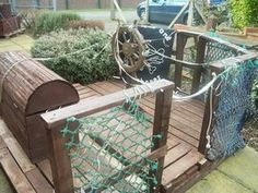 The Pirate Raft - pallets/ recycled wood