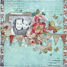 Created using My Creative Scrapbook's January LE kit featuring  Basic Grey's Lucille