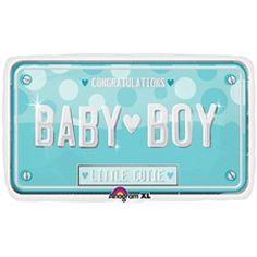 Baby Boy License Plate Balloons, It's a Boy Balloons, Balloons