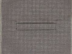 Single welt pocket How to sew. - YouTube