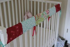 mamatots: DIY Crib Railing Cover