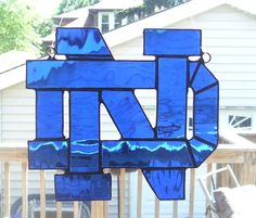 Notre Dame Fighting Irish Stained Glass by smashingglass on Etsy, $45.00