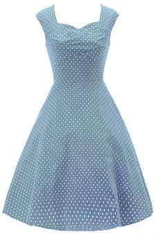 Eyekepper 50s 60s Vintage Solid Sleeveless Square Collar Slim Swing Dresses XL