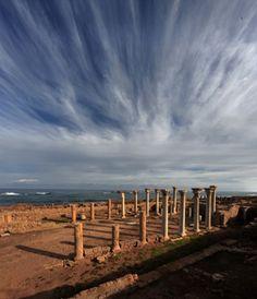 The ruins of Apollonia, Libya