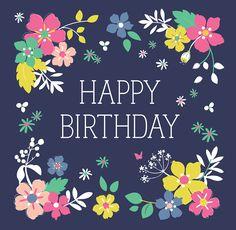 Ditsy Garden Birthday Card | DotComGiftShop