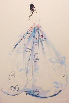 KATIE RODGERS 繪出點點閃爍的時尚插畫