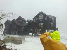 OBX Rodanthe, N.C House Falls #hurricanesandyobx
