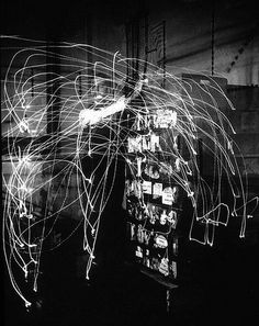 Frank and Lilian Gilbreth, first light painting, 1914.