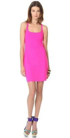 {Talk about a #pop of #pink! love this Susana Monaco #mini #dress} #veryallegra #fashion http://rstyle.me/~cz-JPnp