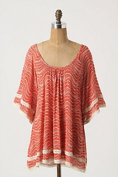 Ella Moss top from Anthropologie: flowy, roomy, and if you look closely, you'll see it's a polka dot print. LOVE.