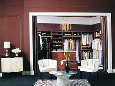 Consider a curtain rather than a door at the entrance of your walk-in closet.