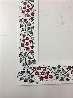Gonca hanım çini ayna Moroccan Decor, Tile Art, String Art, Islamic Art, Painting Techniques, Folk, Doodles, Pottery, Clay