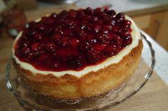 Filines Testblog: New York Cheesecake mit Kirschgrütze als Topping z...