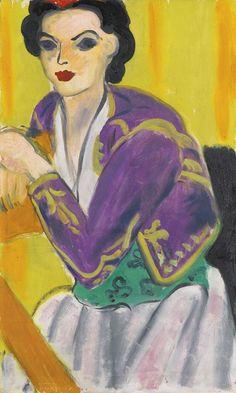 Henri Matisse - Boléro Violet, 1937. Pinterest