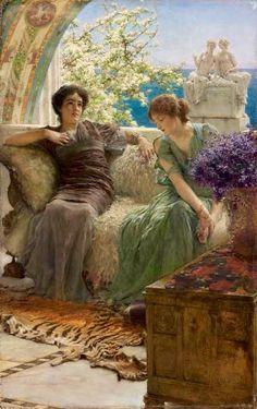 """Lawrence Alma-Tadema """"Confidenze sgradite"""" - 1895"""