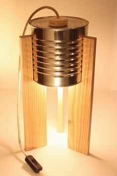 dco boite bois Ideas , Diy dco boite bois Ideas , Diy dco boite bois Ideas , Have a Look at All About Licht Kunst Licht Tin Can Lights, Upcycling Design, Diy Luminaire, Handmade Lamps, Diy Crafts For Gifts, Wooden Lamp, Diy Holz, Wooden Boxes, Diy Furniture