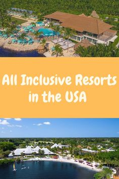 All Inclusive Resorts in United States Family All Inclusive, Adult Only All Inclusive, Best All Inclusive Resorts, Best Honeymoon, Adults Only, Where To Go, All Over The World, United States, Tours