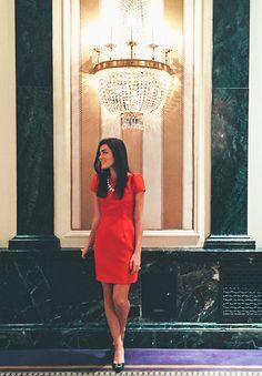 Camilyn Beth red dress // Waldorf Astoria