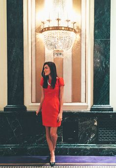 Camilyn Beth red dress // Waldorf Astoria