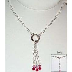 """Great style and so easy to make! 21"""" Length of Chain #0805-chain-001 (Cut into two 9"""" and three 1"""" pieces) 1 - Silver Flat Round Connector Link #0803-conn1-sp4"""