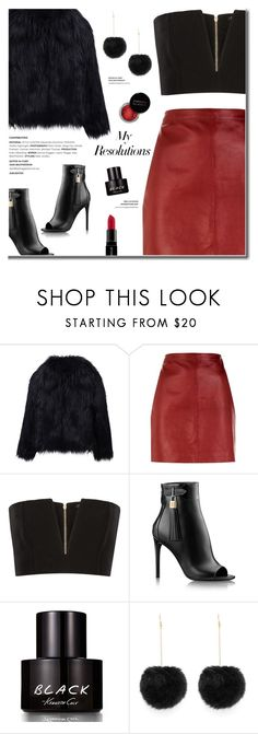 """""""#PolyPresents: New Year's Resolutions"""" by fashion-bea-16 ❤ liked on Polyvore featuring WithChic, Sandro, Balmain, Concrete Minerals, Kenneth Cole, Smashbox, contestentry and polyPresents"""
