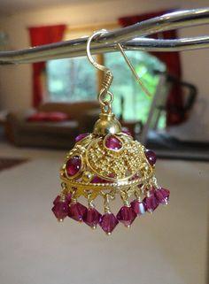 Jaipur Jhumkas  Jadau Jhumkas South Indian Style with by jhumkas, $169.00