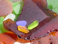 Sea glass that we collected from beaches on the Outer Banks of North Carolina