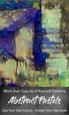 Easy Abstract Paintings: Scenes of Four Old Barns With Abstract Landscape Painting, Abstract Paintings, Landscape Paintings, Original Paintings, Paint Palettes, Or Mat, Craft Paint, Old Barns, Paint By Number