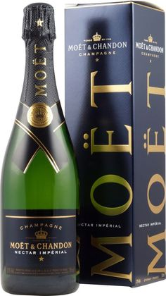 Moet Chandon Nectar Imperial mit Liter - Demi Sec Champagner Moet Chandon, Pinot Noir, Champagne Moet, French Wine, Bourbon Whiskey, Prosecco, Beverages, Liqueurs, Label Design