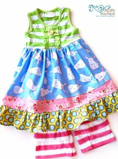 Bunny Trail Spring Summer Easter dress MOMI boutique