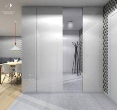 Mieszkanie dla młodej pary,46m2: styl translation missing: pl.style.korytarz-przedpokój-i-schody.nowoczesny, w kategorii Korytarz, przedpokój i schody zaprojektowany przez Architekt wnętrz Klaudia Pniak