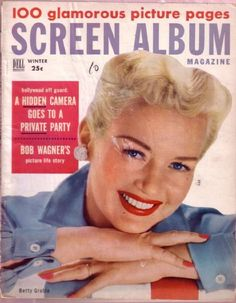 Screen Album Magazine with Betty Grable in colour on the cover.