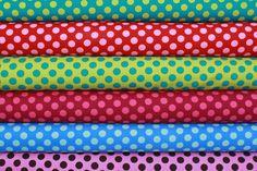 Michael Miller Ta Dot Fabric  Fat Quarter Bundle  by magpiefabrics, $10.00
