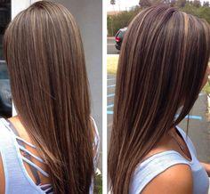 balayage braun glatt - Google-Suche | Haar und Make up ...