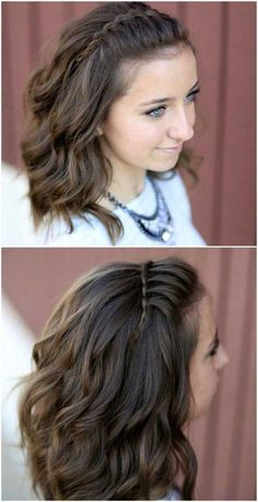 Short Braided Hairstyle click now for more. Braided Hairstyles Tutorials, Headband Hairstyles, Down Hairstyles, Pretty Hairstyles, Easy Hairstyles, Girl Hairstyles, Braid Tutorials, Headband Braids, Wedding Hairstyles