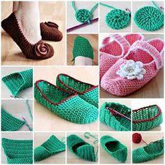 Crochet Slippers f