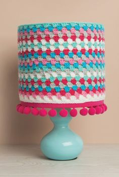 free crochet granny lampshade pattern