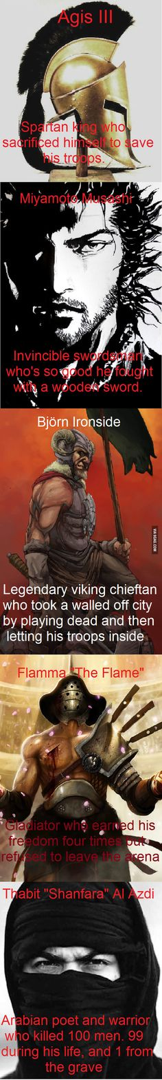 5 Badass historical warriors you probably haven't heard of. (Details in vid in first comment) - 9GAG