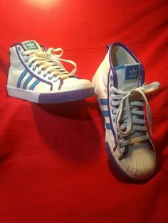uk availability 1a155 d4857 Retro Adidas With The 3 Stripes Superstar Nizza Shell Toe High Tops Men s  Size 9