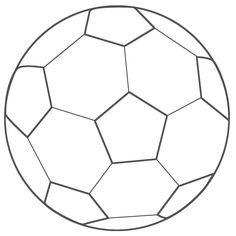 Soccer ball coloring page.