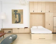 3 Gifted Cool Tips: Bedroom Remodel Front Porches spare bedroom remodel basements.Guest Bedroom Remodel Wood Walls master bedroom remodel the doors. Plywood Interior, Modern Murphy Beds, Interior Architecture, Interior Design, Interior Decorating, Decorating Ideas, Home Bedroom, Master Bedroom, Bedroom Ideas
